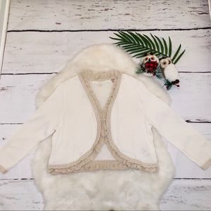Anthropologie nude white cardigan